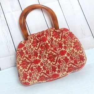 [VINTAGE] INGBER 1950's cloth tapestry carpet bag